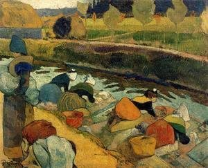 Paul Gauguin - Washerwomen At The Roubine Du Roi  Arles