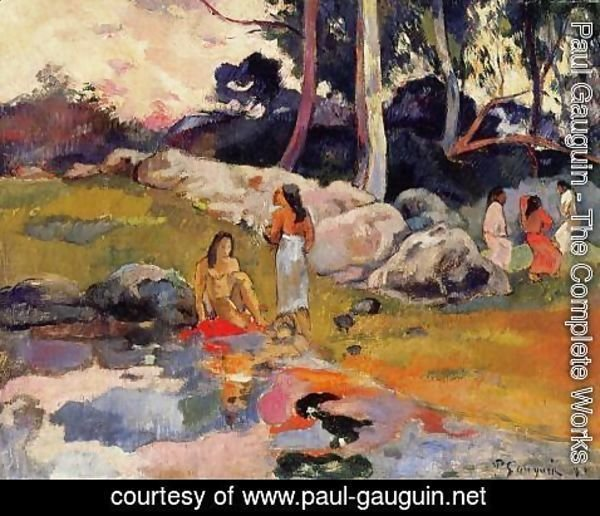 Paul Gauguin - Woman On The Banks Of The River