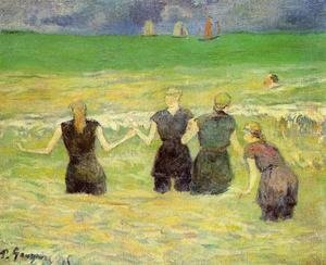 Paul Gauguin - Women Bathing  Dieppe