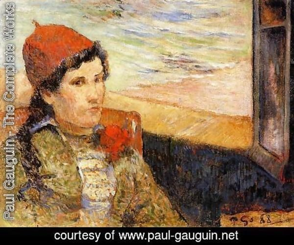 Paul Gauguin - Young Woman At A Window