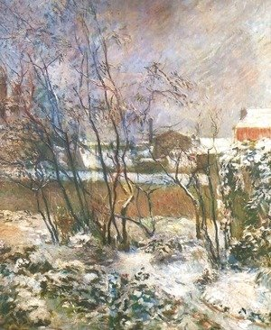 Paul Gauguin - Garden in the Snow